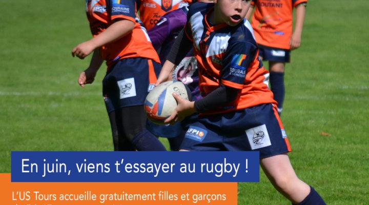 Votre fils ou votre fille souhaite essayer un sport collectif ?Pourquoi pas le Rugby !