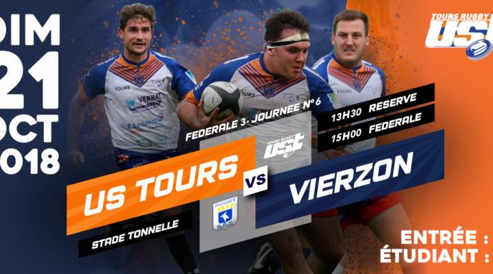DERBY dimanche 21 octobre : match Tours vs Vierzon
