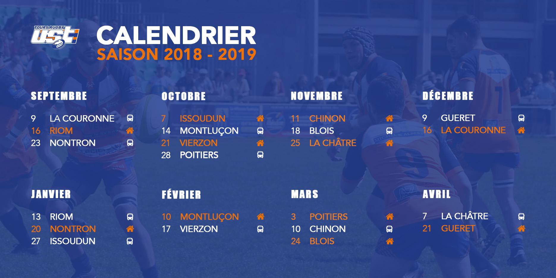 Fédérale 3 : calendrier des matchs de la saison 2018-2019