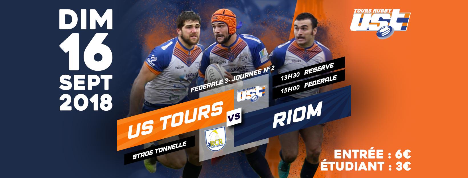 Match US Tours vs Riom & Soirée Blanche