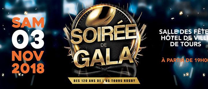 Save the date : samedi 3 novembre 2018 – Gala des 120 ans de l'US Tours Rugby