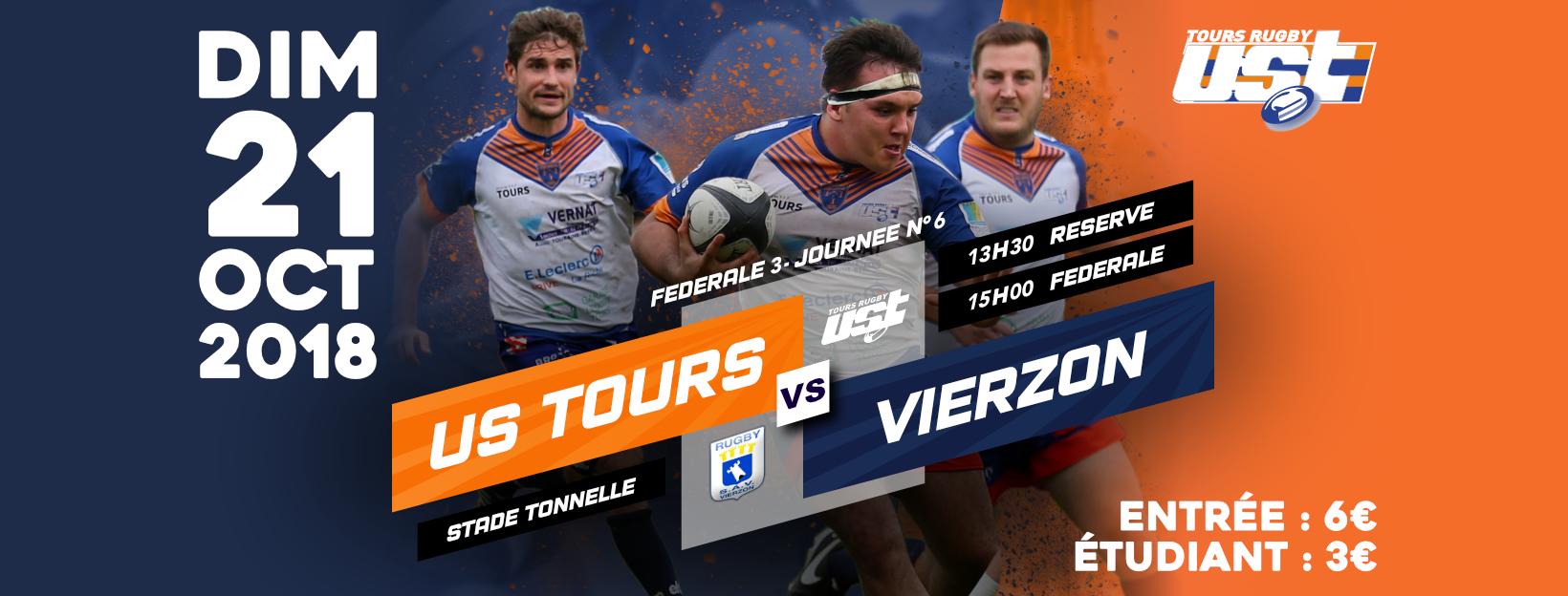 Dimanche 21 octobre : match Tours vs Vierzon