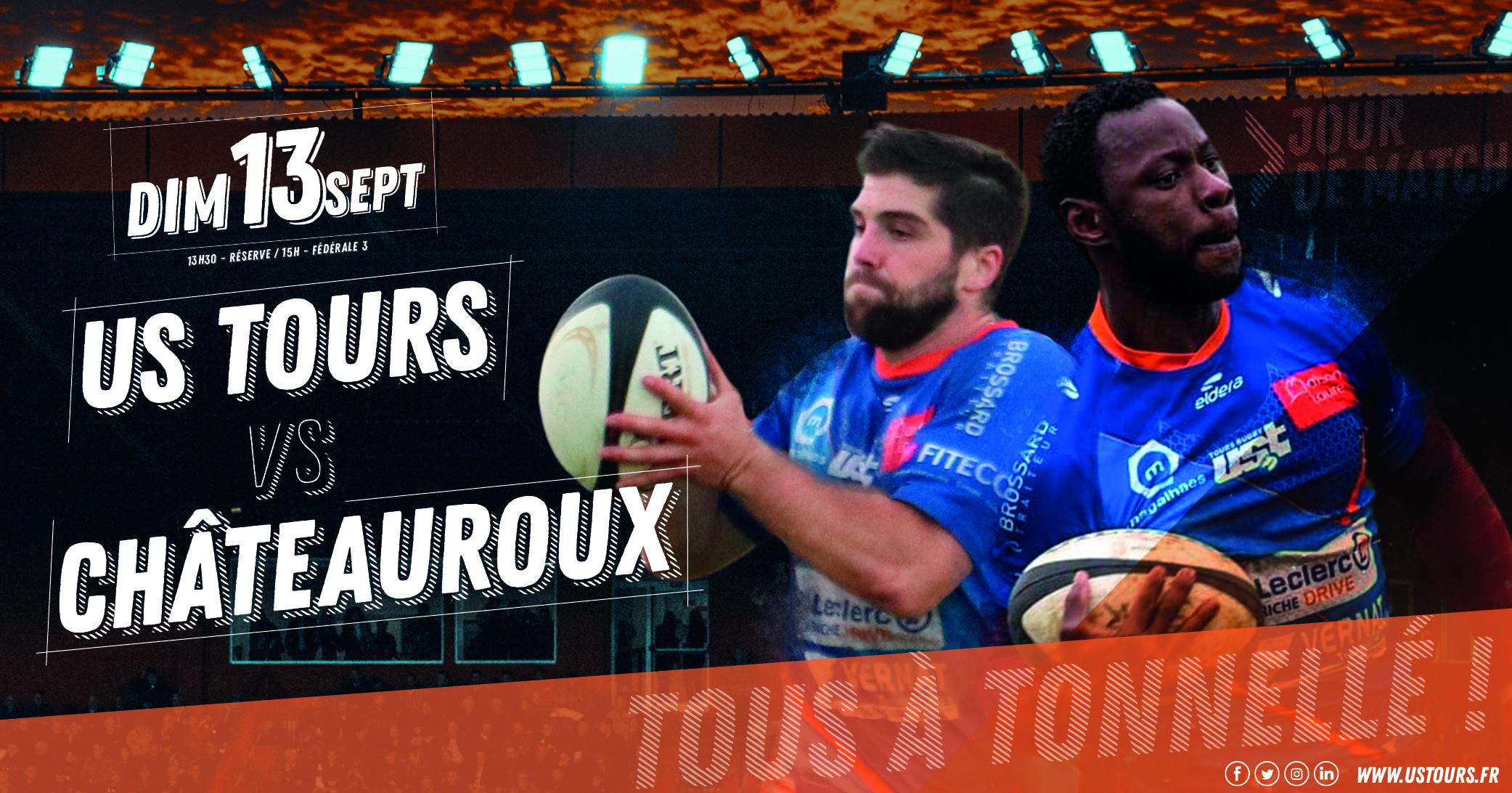 J1 : match US Tours / RAC Châteauroux