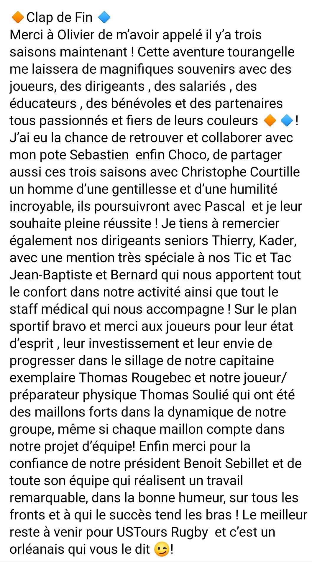 Message Franck